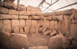 Ναός Megalitic σύνθετος - Hagar Qim στη Μάλτα Στοκ εικόνες με δικαίωμα ελεύθερης χρήσης