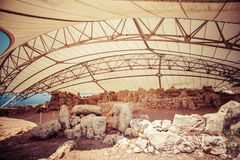 Ναός Megalitic σύνθετος - Hagar Qim στη Μάλτα Στοκ Εικόνα