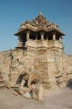 ναός nandi khajuraho της Ινδίας ταύρων Στοκ Φωτογραφία