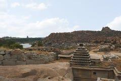 Ναός Narasimha Hampi, Karnataka Επίσης μερικές φορές αναφερόμενος ως ναός Jain στοκ φωτογραφία με δικαίωμα ελεύθερης χρήσης