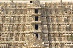 Ναός Padmanabhaswamy Sree, λεπτομέρειες γλυπτών Στοκ φωτογραφία με δικαίωμα ελεύθερης χρήσης