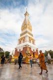 Ναός Panom Pratat, Nakorn Panom, Ταϊλάνδη Στοκ Φωτογραφίες
