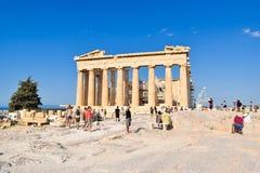 Ναός Parthenon αρχαίου Έλληνα Στοκ Φωτογραφία