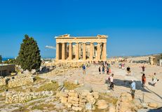 Ναός Parthenon αρχαίου Έλληνα Στοκ εικόνα με δικαίωμα ελεύθερης χρήσης