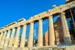 Ναός Parthenon αρχαίου Έλληνα Στοκ Εικόνα