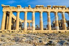 Ναός Parthenon αρχαίου Έλληνα Στοκ Εικόνες