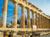 Ναός Parthenon αρχαίου Έλληνα Στοκ φωτογραφία με δικαίωμα ελεύθερης χρήσης