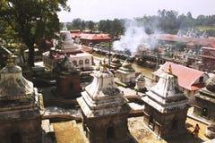 Ναός Pashupatinath Διάσημος ινδός ναός σύνθετος στο Κατμαντού Νεπάλ στοκ εικόνα