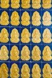 Ναός Penang Μαλαισία Si Kek Lok κεραμιδιών τοίχων του Βούδα στοκ φωτογραφία με δικαίωμα ελεύθερης χρήσης