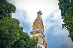 Ναός Phra που Phanom Stupa, σημαντικές βουδιστικές δομές Theravada στην περιοχή μέσα στην επαρχία Nakhon Phanom, Ταϊλάνδη Στοκ Εικόνα