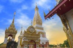 Ναός Phra που Phanom Stupa, σημαντικές βουδιστικές δομές Theravada στην περιοχή μέσα στην επαρχία Nakhon Phanom, Ταϊλάνδη Στοκ Φωτογραφία