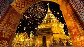 Ναός Phrathat Doi Suthep Wat Chiang Mai, Ταϊλάνδη απόθεμα βίντεο