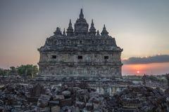 Ναός Plaosan στοκ φωτογραφίες