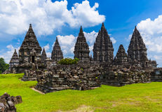 Ναός Prambanan κοντά σε Yogyakarta στο νησί της Ιάβας - Ινδονησία Στοκ Εικόνες