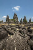 Ναός Prambanan στο νησί της Ιάβας, Ινδονησία Στοκ Εικόνες