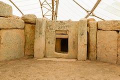 Ναός Qim Hagar σύνθετος που βρίσκει στο νησί της Μάλτας Στοκ φωτογραφία με δικαίωμα ελεύθερης χρήσης