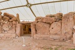 Ναός Qim Hagar σύνθετος που βρίσκει στο νησί της Μάλτας Στοκ Φωτογραφίες