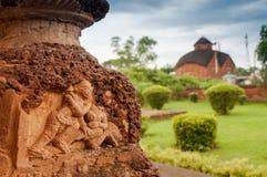 Ναός Radhagobinda, τερακότα, Bishnupur, Ινδία στοκ φωτογραφία