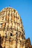 Ναός Ratchaburana Wat, ιστορικό πάρκο Ayutthaya, Phra Nakhon Στοκ εικόνα με δικαίωμα ελεύθερης χρήσης