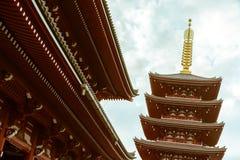 Ναός Senso-senso-ji σε Asakusa, Τόκιο, Ιαπωνία στοκ εικόνες