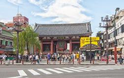 Ναός Senso-senso-ji στο Τόκιο, Ιαπωνία Στοκ εικόνες με δικαίωμα ελεύθερης χρήσης