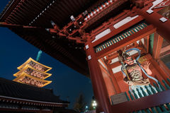 Ναός Sensoji σε Asakusa Τόκιο - την Ιαπωνία Στοκ φωτογραφίες με δικαίωμα ελεύθερης χρήσης