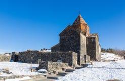 _ Ναός Sevan σύνθετος στη λίμνη Sevan στοκ φωτογραφίες με δικαίωμα ελεύθερης χρήσης
