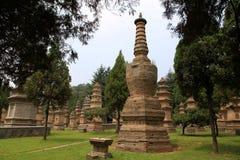 Ναός Shaolin, ο τόπος γεννήσεως Shaolin Kung Fu Στοκ Εικόνα
