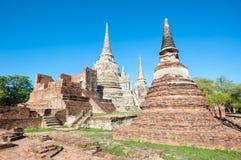 Ναός Si Sanphet Phra Wat, Ayutthaya, Ταϊλάνδη Στοκ Φωτογραφία