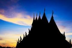 Ναός Silhuet με τον όμορφο ουρανό στοκ εικόνες με δικαίωμα ελεύθερης χρήσης