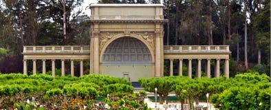 Ναός Spreckels της μουσικής στο χρυσό πάρκο Σαν Φρανσίσκο πυλών - ασβέστιο Στοκ Εικόνες