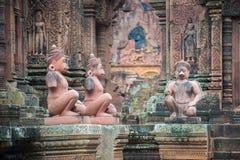 Ναός Srei Banteay, Angkor, Καμπότζη Στοκ εικόνα με δικαίωμα ελεύθερης χρήσης
