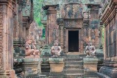 Ναός Srei Banteay, Angkor, Καμπότζη Στοκ φωτογραφία με δικαίωμα ελεύθερης χρήσης