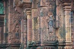 Ναός Srei Banteay, Angkor, Καμπότζη Στοκ φωτογραφίες με δικαίωμα ελεύθερης χρήσης