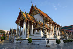 Ναός Suthat Thep Wat wararam, Μπανγκόκ, Ταϊλάνδη Στοκ Φωτογραφία