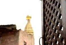 Ναός Swayambhu στοκ εικόνες