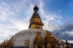 Ναός Swayambhunath μετά από το σεισμό, Κατμαντού, Νεπάλ Στοκ Φωτογραφία
