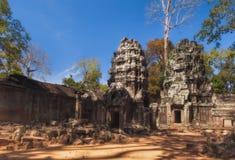 Ναός TA Prohm σε Angkor Wat η Καμπότζη συγκεντρώνει siem Στοκ εικόνα με δικαίωμα ελεύθερης χρήσης