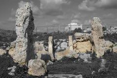 Ναός TA Skorba | Megalithic δομή βωμών στοκ εικόνα