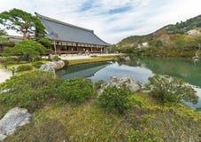Ναός Tenryu-tenryu-ji σε Arashiyama, Κιότο, Ιαπωνία Στοκ εικόνα με δικαίωμα ελεύθερης χρήσης
