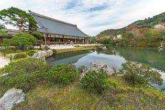 Ναός Tenryu-tenryu-ji σε Arashiyama, Κιότο, Ιαπωνία Στοκ φωτογραφίες με δικαίωμα ελεύθερης χρήσης