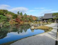 Ναός Tenryuji στην εποχή φθινοπώρου σε Arashiyama, Κιότο, Ιαπωνία Στοκ εικόνα με δικαίωμα ελεύθερης χρήσης