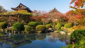 Ναός Tji και κήπος φθινοπώρου, Κιότο στοκ φωτογραφία με δικαίωμα ελεύθερης χρήσης