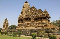 Ναός Vishwanatha, δυτικοί ναοί Khajuraho, Ινδία Στοκ Εικόνα