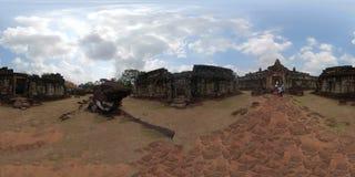 Ναός 360VR Bakong με τους τουρίστες στοκ εικόνες με δικαίωμα ελεύθερης χρήσης