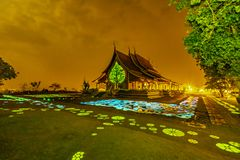 Ναός Wararam Phu Phrao Sirinthorn στοκ εικόνες με δικαίωμα ελεύθερης χρήσης