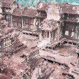 Ναός Wat Angkor Άποψη από μέσα από το ναό Στοκ Εικόνα