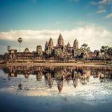 Ναός Wat Angkor η Καμπότζη συγκεντρώνει siem Στοκ Εικόνα