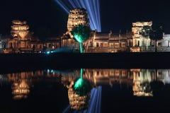 Ναός Wat Angkor Καμπότζη η banteay λίμνη της Καμπότζης angkor lotuses συγκεντρώνει siem το ναό srey Khmer νέο έτος σε Angkor Wat Στοκ Εικόνες