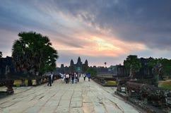 Ναός Wat Angkor, Καμπότζη Στοκ Φωτογραφίες